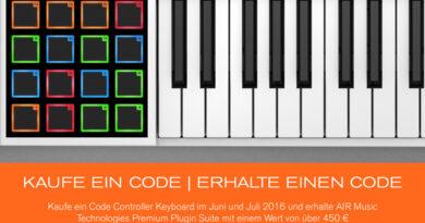 M-Audio Code Promo 06/07 2016