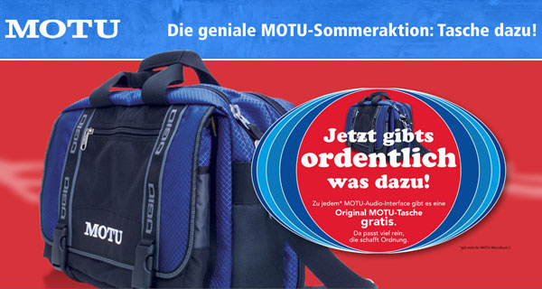 MOTU Bag Sommeraktion 2016