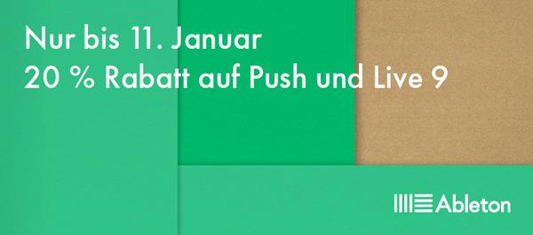 20% auf Ableton Push + Live 9