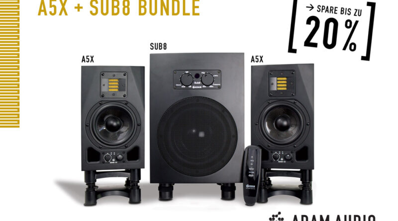 ADAM Audio A5X Paar + Sub8 2.1 Bundle