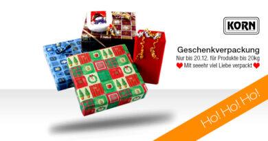 Weihnachtsgeschenkverpackungsservice 2017