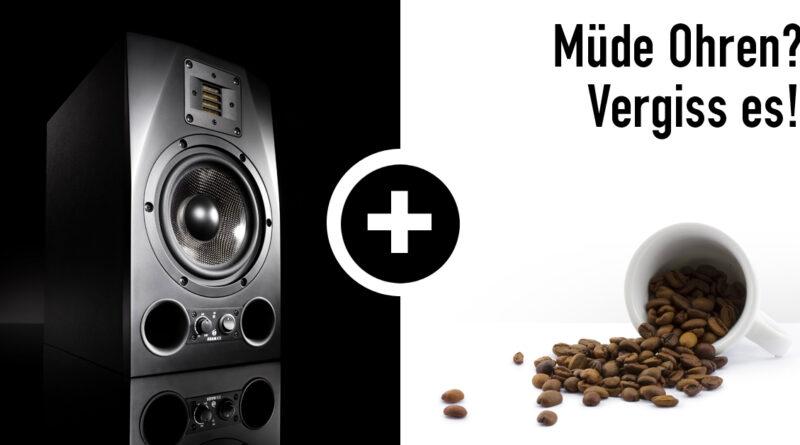 ADAM Audio A7X + Black Insomnia Kaffee Aktion