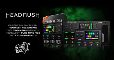HeadRush + ChopTones 11 kostenlose Pure Tone Rigs