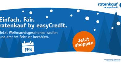 Ratenkauf by easyCredit - Bezahlt wird erst im Februar