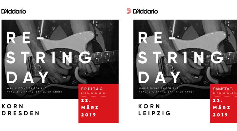 D'Addario Restring Day Dresden + Leipzig - 22./23.03.2019