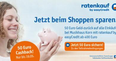 Aktion - Ratenkauf by easyCredit - 50 Euro Cashback für Einkäufe ab 400 Euro