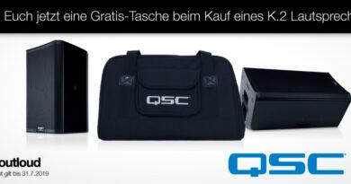 QSC K.2. Serie - Bis 31.07.19 gratis Bag sichern