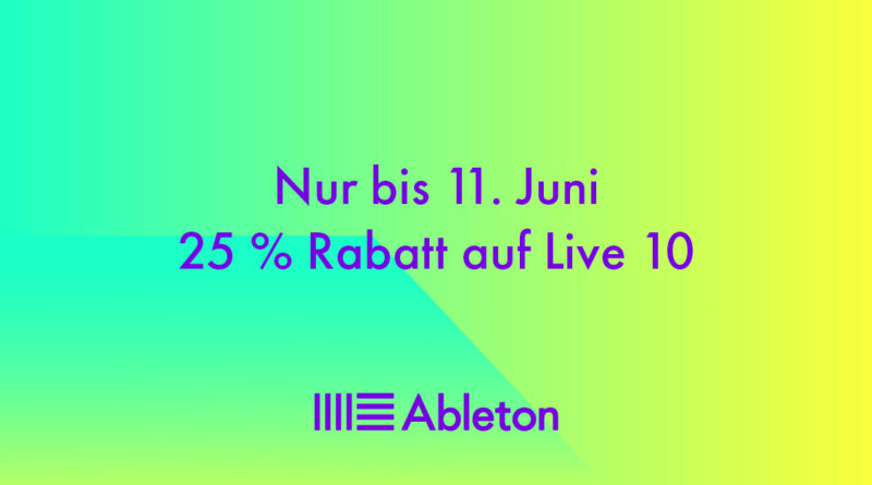 Ableton Flash Sale - 25% Rabatt auf Ableton Live 10