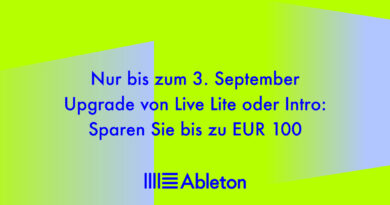 Ableton Upgrade Aktion bis 03.09.19 - Bis zu 100,00 Euro sparen