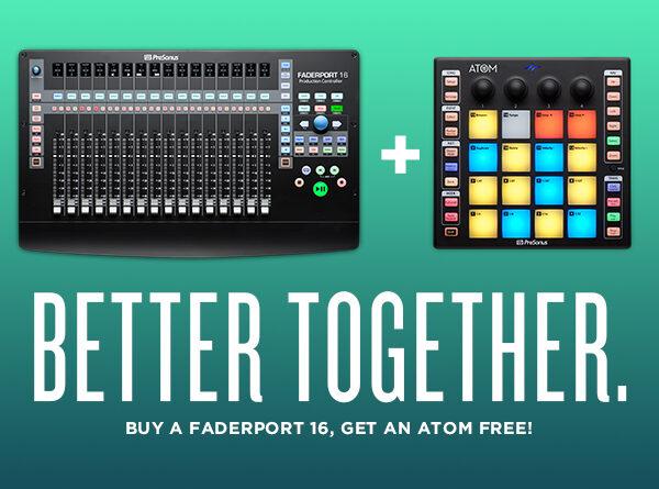 PreSonus Atom gratis bei Kauf eines PreSonus FaderPort 16