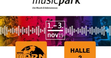 Musikhaus Korn at musicpark 2019 - Leipzig - 01.- 03. November 2019 | Halle 2 - Stand G160 |