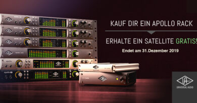 Universal Audio Apollo Rack + Gratis UAD-2 Satellite TB3/TB2/FW