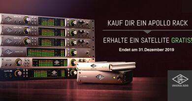 Universal Audio Apollo Rack + Gratis UAD-2 Satellite TB3/TB2/FW