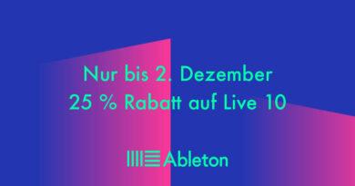 Ableton Live - 25% off - Bis 02.12.19