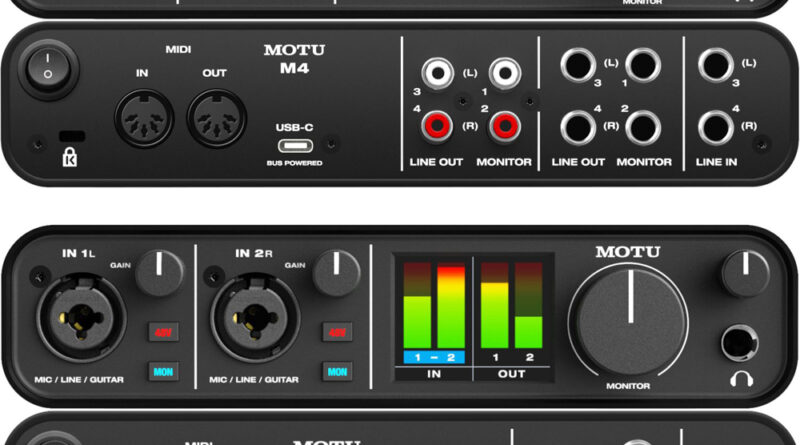 MOTU M2 + M4 USB-C Audio Interfaces vorgestellt
