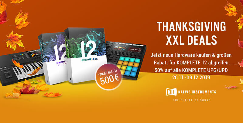 50% off - Native Instruments - Thanksgiving XXL