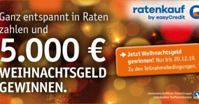Mit ratenkauf by easyCredit 5.000 EUR Weihnachtsgeld gewinnen