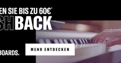 Yamaha Tasteninstrumente - Bis zu 60 Euro Cashback