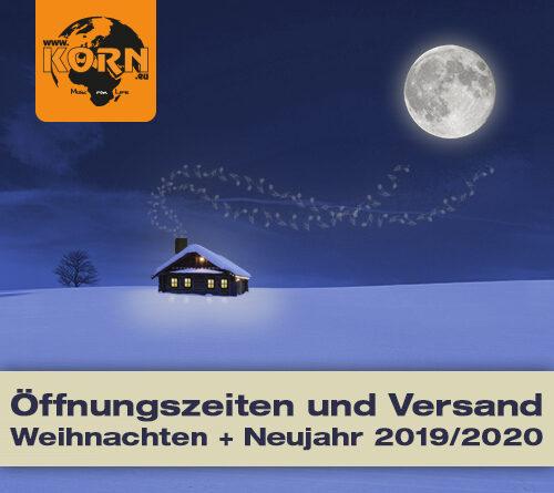 Kundeninformation – Weihnachten und Neujahr 2019/2020