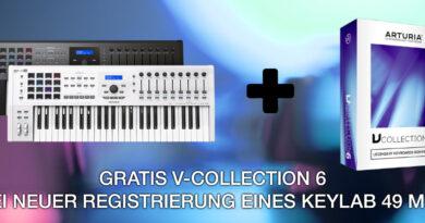 Arturia KeyLab 49 MKII + gratis V-Collection 6