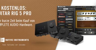 Gratis Guitar Rig 5 Pro beim Kauf von NI Komplete Audio Interfaces