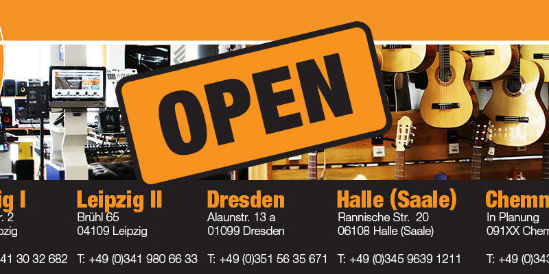 ALLE Musikhaus Korn und Deejayladen Filialen öffnen ab 20.04.20