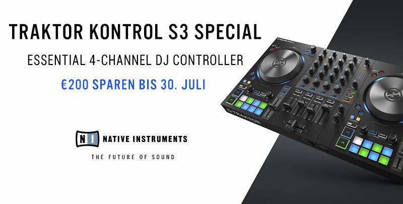 Nur noch bis 30.07. - Native Instruments TRAKTOR KONTROL S3 Sonderpreis