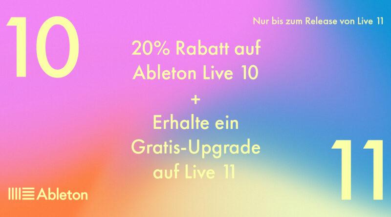 Ableton Live 11 angekündigt - Live 10 Preissenkung
