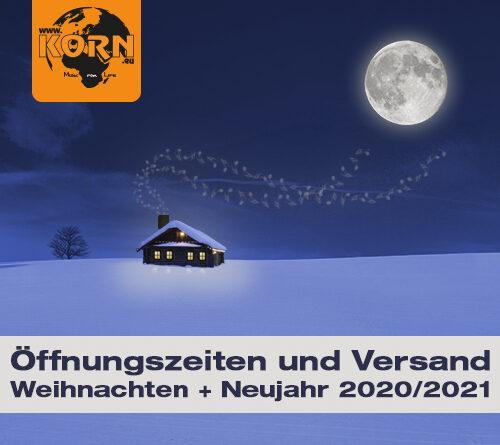 Kundeninformation – Weihnachten und Neujahr 2020/2021