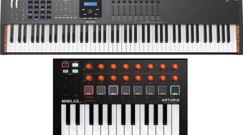 Arturia KeyLab 88 MKII Black + MiniLab MKII Orange angekündigt