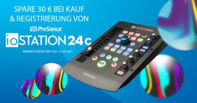 PreSonus ioStation 24c - 30 Euro Cashback bis 31.03.2021