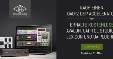 Universal Audio Specials bis 31.03.2021