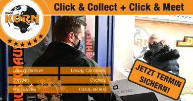 Terminshopping und Abholung möglich - Click & Collect - Click & Meet