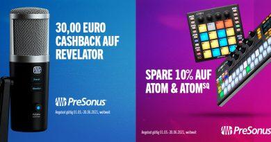 PreSonus Atom + Atmom SQ + Revelator + Cashback bis zu 30 Euro