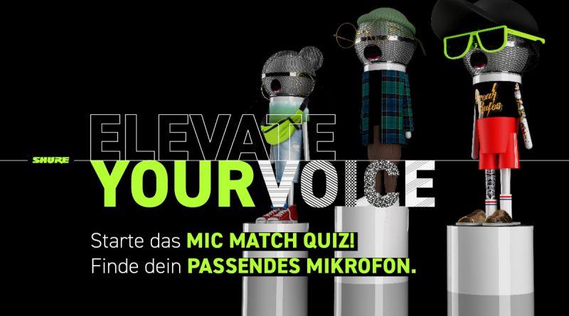 Shure Mic Match Quiz - Finde dein Mikrofon