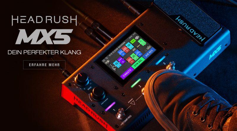 HeadRush MX5 Gitarreneffekt + Amp Modelling Prozessor vorgestellt