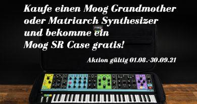Gratis Moog SR Case mit Matriarch und Grandmother